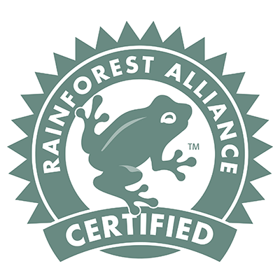 Rainforrest Aalliance Certified